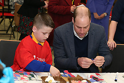 The Duke of Cambridge during his visit to the Braids Arts Centre in Ballymena to see the workings of the CineMagic charity as part of his two day visit to Northern Ireland.