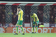 Norwich City midfielder Robbie Brady (12) with head in hands during the EFL Sky Bet Championship match between Brentford and Norwich City at Griffin Park, London, England on 31 December 2016. Photo by Matthew Redman.