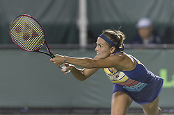 March 26, 2018 - Miami, FL, United States - KEY BISCAYNE, FL - March, 26:Monica Puig (PUR) loses 63 46 26 to Danielle Collins (USA) at the 2018 Miami Open on March 24, 2018, at the Tennis Center at Crandon Park in Key Biscayne, FL.  Credit: Andrew Patron/Zuma Wire (Credit Image: © Andrew Patron via ZUMA Wire)