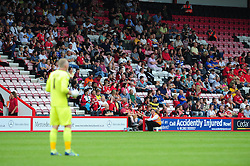 Bristol City fans at Bournemouth - Photo mandatory by-line: Dougie Allward/JMP - Tel: Mobile: 07966 386802 27/03/2013 - SPORT - FOOTBALL - Goldsands Stadium - Bournemouth -  Bournemouth V Bristol City - Pre Season friendly