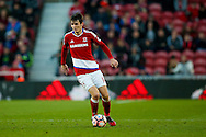 Middlesbrough midfielder Marten de Roon (14)  on the ball  during the The FA Cup match between Middlesbrough and Sheffield Wednesday at the Riverside Stadium, Middlesbrough, England on 8 January 2017. Photo by Simon Davies.