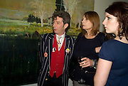 DOUGIE FIELDS,  JENNY RUNACRE ( STARRED IN JUBILEE) AND MARIELE RUNACRE-TEMPLE. Dinner hosted by the Victoria Miro Gallery Serpentine after the opening of the Derek Jarman exhibition curated by isaac Julien. February 2008.  *** Local Caption *** -DO NOT ARCHIVE-© Copyright Photograph by Dafydd Jones. 248 Clapham Rd. London SW9 0PZ. Tel 0207 820 0771. www.dafjones.com.