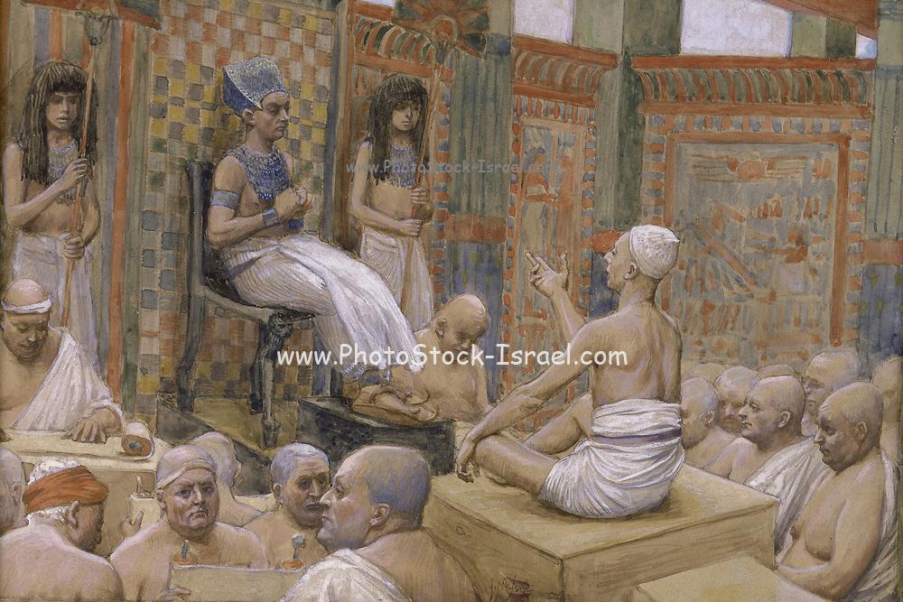 Joseph Interprets Pharaoh's Dream, c. 1896, by James Jacques Joseph Tissot