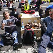 Extinction Rebellion activists blocks Whitehall - Impossible Rebellion Day 2