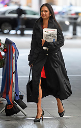 © Licensed to London News Pictures. 08/12/2018. London, UK. Business woman and anti-Brexit campaigner GINA MILLER arrives at BBC Broadcasting House to appear on The Andrew Marr Show. Photo credit: Ben Cawthra/LNP