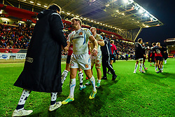 Stuart Townsend of Exeter Chiefs shakes hands with Steve Luatua of Bristol Bears - Mandatory by-line: Ryan Hiscott/JMP - 18/11/2018 - RUGBY - Ashton Gate Stadium - Bristol, England - Bristol Bears v Exeter Chiefs - Gallagher Premiership Rugby