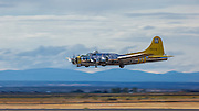 """Brent Conner flies Tillamook Air Museum's B17 """"Chuckie""""  at the Airshow of the Cascades."""