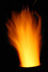 Flames coming from a chiminea,