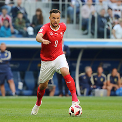 July 3, 2018 - Russia - July 03, 2018, St. Petersburg, FIFA World Cup 2018 Football, the playoff round. Football match of Sweden - Switzerland at the stadium of St. Petersburg. Player of the national team Haris Seferovich. (Credit Image: © Russian Look via ZUMA Wire)