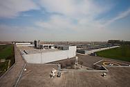 San Rocco, Milano sud : Impianto di depurazione delle acque reflue. San Rocco Waste Water Treatment plant. vista sul complesso.