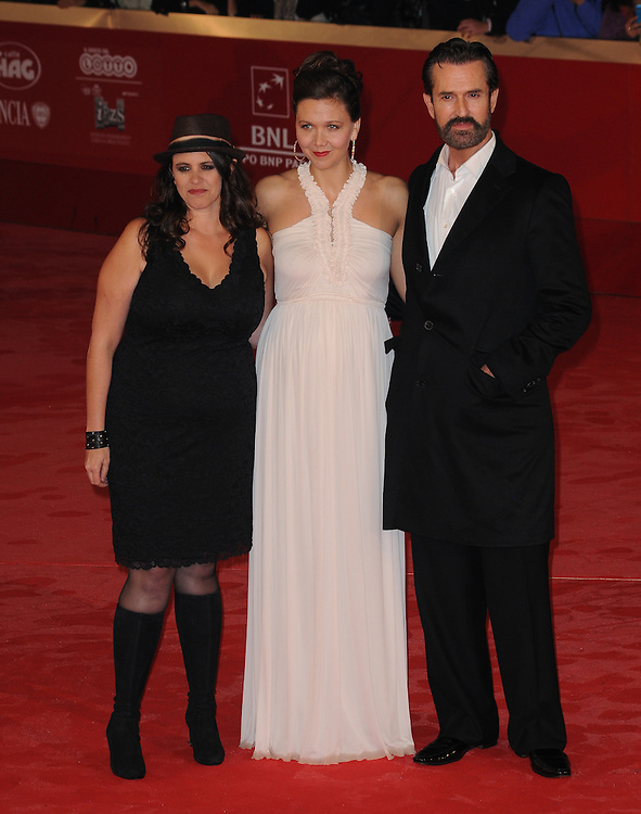 """Tanya Waxler, Maggie Gyllenhall and Rupert Everett  at the premiere of """"Hysteria"""" during the 6th International Rome Film Festival..October 28, 2011, Rome, Italy.Picture: Catchlight Media / Featureflash"""