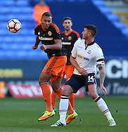Reece Brown of Sheffield Utd  Reece Brown of Sheffield Utd wins the aerial ball against Gary Madine of Bolton during the FA Cup Second round match at the Macron Stadium, Bolton. Picture date: December 4th, 2016. Pic Simon Bellis/Sportimage