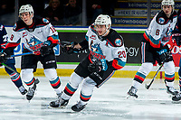 KELOWNA, BC - MARCH 7: Matthew Wedman #20 of the Kelowna Rockets skates against the Lethbridge Hurricanes at Prospera Place on March 7, 2020 in Kelowna, Canada. Wedman was selected in the 2019 NHL entry draft by the Florida Panthers. (Photo by Marissa Baecker/Shoot the Breeze)
