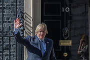 """As part of the NHS birthday celebrations, Prime Minister Boris Johnson and Annemarie Plas (not in Picture), founder of """"Clap For Our Carers"""" appeared outside 10 Downing Street, London on Sunday, July 5, 2020, to join in the pause for the applause to salute the NHS 72nd birthday. (VXP Photo/ Vudi Xhymshiti)"""