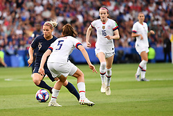 June 28, 2019 - Paris, ile de france, France - Eugenie LE SOMMER (FRA) in action during the first period of the quarter-final between FRANCE vs USA in the 2019 women's football World cup at Parc des Princes in Paris, on the 28 June 2019. (Credit Image: © Julien Mattia/NurPhoto via ZUMA Press)