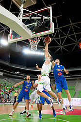 Mirza Teletovic of Bosnia during friendly basketball match between National teams of Slovenia and Bosnia i Hercegovina of Adecco Ex-Yu Cup 2012 as part of exhibition games 2012, on August 3rd, 2012, in Arena Stozice, Ljubljana, Slovenia. (Photo by Urban Urbanc / Sportida)