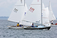 _V0A8096. ©2014 Chip Riegel / www.chipriegel.com. The 2014 Bullseye Class National Regatta, Fishers Island, NY, USA, 07/19/2014. The Bullseye is a Nathaniel Herreshoff designed 15' Marconi rig sailing boat.