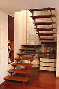 Interior design wooden staircase