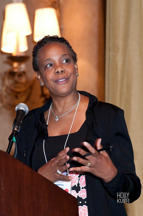 Portrait of a Black Woman Speaker