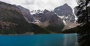 Panoramic view of Moraine Lake, Banff National Park, Alberta, Canada
