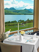 The Panorama restaurant overlooking Lough lein and The McGillycuddy Reeks Mountains in Killarney, County Kerry, Ireland..Picture by Don MacMonagle