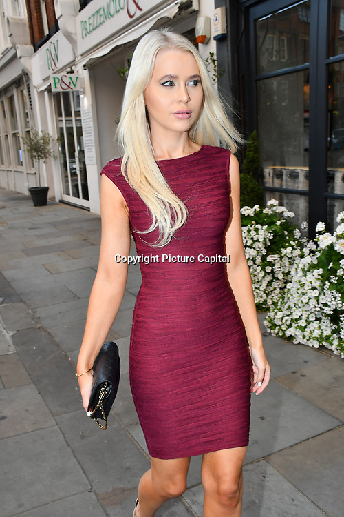 Emily Coral arrive at the Handbag Clinic - relaunch at 382 King's Road on 4 September 2019, London, UK.