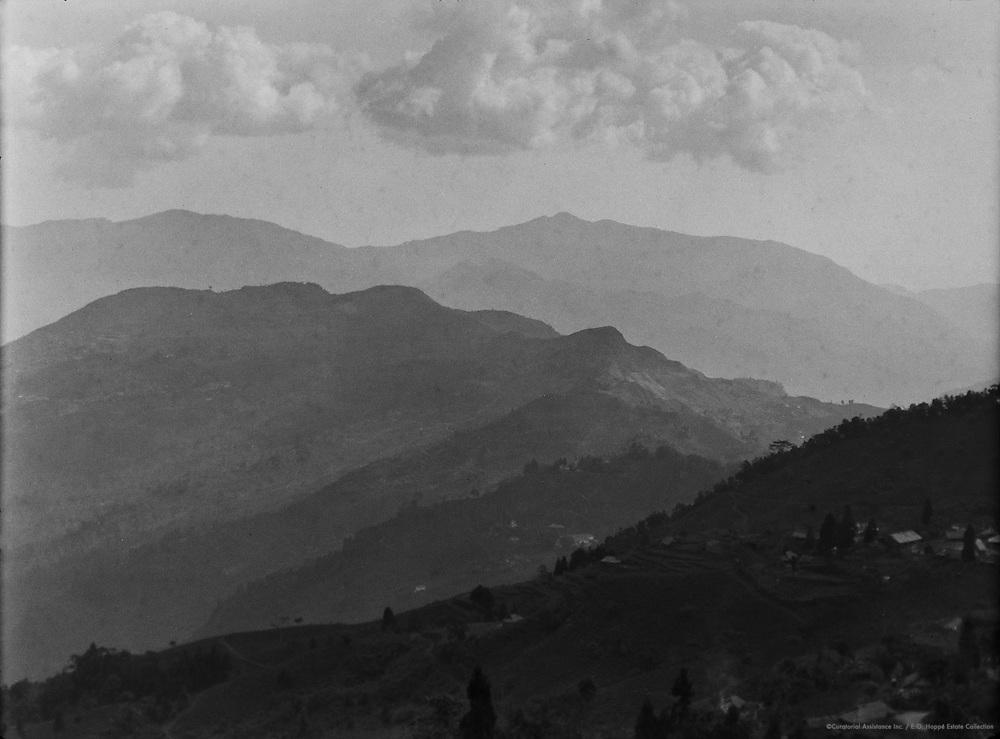 Tea Estate & Mountains, Teesta Valley, India, 1929