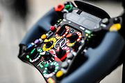 Nov 15-18, 2012: Mercedes F1 steering wheel detail. © Jamey Price/XPB.cc