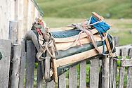 Traditional saddle at Dobërdol summer pasture on the Peaks of the Balkans trail, Albania © Rudolf Abraham