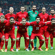 Turkey's players during their UEFA Euro 2016 qualification Group A soccer match Turkey betwen Kazakhstan at AliSamiYen Arena in Istanbul November 16, 2014. Photo by Kurtulus YILMAZ/TURKPIX