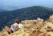 family couple love view mountains shenandoah