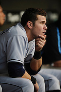 Tampa Bay Rays rookie Evan Longoria watches his team lose for the sixth straight time July 12, 2008 in Cleveland. The Rays lost their last seven games before the all-star break..