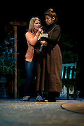 """Kristen McCullough and Deborah Jones perform during a dress rehearsal for """"Yellow"""" at the Kalita Humphreys Theater February 20, 2013 in Dallas, Texas. (Cooper Neill/The Dallas Morning News)"""