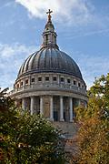 Londyn, 2009-10-23. Kopuła Katedry św. Pawła