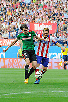 Atletico de Madrid´s Koke and Athletic Club´s Ander Iturraspe during 2014-15 La Liga match between Atletico de Madrid and Athletic Club at Vicente Calderon stadium in Madrid, Spain. May 02, 2015. (ALTERPHOTOS/Luis Fernandez)