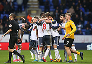 Bolton Wanderers Luke Murphy celebrates his goal with team mates during the EFL Sky Bet League 1 match between Bolton Wanderers and Southend United at the University of  Bolton Stadium, Bolton, England on 21 December 2019.