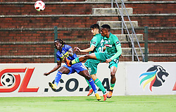 23102018 (Durban) Cape Town City player Kateregga Allan tackling for a ball with Amazulu Player Tade Emiliano during the first round of the Telkom Knockout concludes on Tuesday night when Amazulu host MTN8 Cup winners Cape Town City at the King Zwelithini stadium.<br /> Picture: Motshwari Mofokeng/African News Agency (ANA)