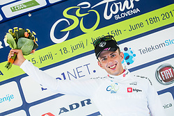 Ziga Jerman (SLO) of Rog - Ljubljana celebrates as best young rider at trophy ceremony during Stage 1 of 24th Tour of Slovenia 2017 / Tour de Slovenie from Koper to Kocevje (159,4 km) cycling race on June 15, 2017 in Slovenia. Photo by Vid Ponikvar / Sportida