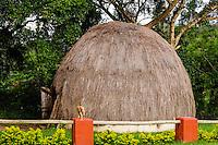 Traditional hut close to Matsamo, a South Africa-Swaziland border crossing. The Kingdom of Swaziland.