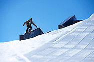 Max Parrot during Snowboard Slopestyle Eliminations at 2014 X Games Aspen at Buttermilk Mountain in Aspen, CO. ©Brett Wilhelm/ESPN