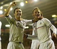 Fotball. Premier League. 30.11.2002.<br />Birmingham v Tottenham<br />Teddy Sheringham og Robbie Keane, Tottenham.<br />Foto: Digitalsport