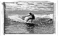 Joe truman making the most of the wave of the day on a lovely little summer swell at Compton Bay, Isle of Wight