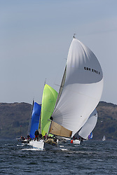 The Clyde Cruising Club's Scottish Series held on Loch Fyne by Tarbert. Day 2 racing in a perfect southerly..GBR9740R ,Sloop John T ,Iain & Graham Thomson ,CCC ,Swan 40