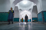 In some mausoleums women have their designated entrance where no man goes. This rule also works in the majority of Mosques in Uzbekistan.
