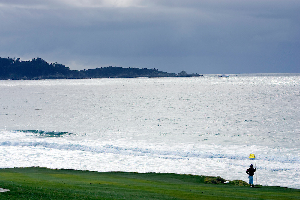 Wind and rain are a part of the equation at Pebble Beach Golf Links.