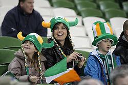 12.10.2012, Aviva Stadium, Dublin, IRL, FIFA WM Qualifikation, Irland vs Deutschland, im Bild Irische Fans, Portrait // during FIFA World Cup Qualifier Match between Ireland and Germany at the Aviva Stadium, Dublin, Ireland on 2012/10/12. EXPA Pictures © 2012, PhotoCredit: EXPA/ Eibner/ Oliver Vogler..***** ATTENTION - OUT OF GER *****