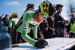 Doris Schweizer signs in for Cylance Pro Cycling  - Drentse 8, a 140km road race starting and finishing in Dwingeloo, on March 13, 2016 in Drenthe, Netherlands.