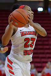 10 December 2017: Viria Livingston during an College Women's Basketball game between Illinois State University Redbirds and the Eagles of Eastern Michigan at Redbird Arena in Normal Illinois.