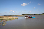 Butley River Creek, Suffolk, England. A tidal creek and wetland habitat part of the River Ore and Alde drainage system along the Suffolk coast of East Anglia.