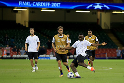 2 June 2017 - UEFA Champions League Final - Juventus Training - Kwado Asamoah and Claudio Marchisio of Juventus - Photo: Marc Atkins / Offside.